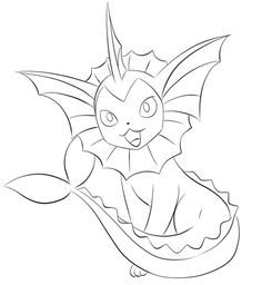 Pokemon Coloring Pages Vaporeon Coloringpages Coloringpagesfree