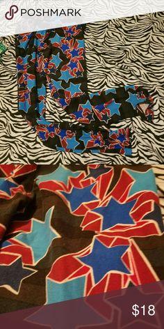 ca76f62ea14285 Lularoe FOJ Americana star leggings OS GUC Rare print, worn twice and  washed according to
