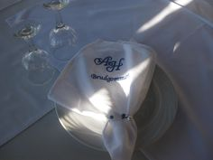 embroided napkin for our groom..!!!