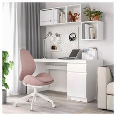 IKEA offers everything from living room furniture to mattresses and bedroom furniture so that you can design your life at home. Check out our furniture and home furnishings! Home Office Chairs, Home Office Decor, Office Desk, Home Decor, Office Spaces, Work Spaces, Small Bedroom Office, Ikea Office Chair, Ikea Chair