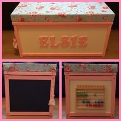 See related links to what you are looking for. Toy Box Seat, Toy Boxes, Storage Boxes, Best Photo Storage, Wooden Photo Box, Personalised Toy Box, Chalkboard Baby, Activity Box, Box Cushion