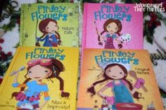 Finley Flowers Books Finley Flowers has Flower Power. That means she has a million ideas. This third-grade star can take anything from duct tape to glitter glue and create something incredible. Problem is, when you're full of ideas, some of them are bound to get you into trouble. Chapter-book readers will fall in love with Finley, her friends, and her family in these quirky, funny stories that highlight creativity and imagination.
