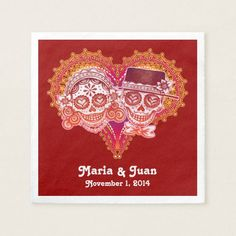 Shop Sugar Skulls Couple Paper Napkins for Wedding created by thaneeyamcardle. Cloth Napkins, Paper Napkins, Sugar Skull Design, Wedding Napkins, Sugar Skulls, Couple, Candy Skulls, Paper Towels, Napkins For Wedding
