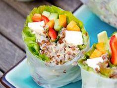 Quinoa chicken wrap - a refreshing, light lunch idea!
