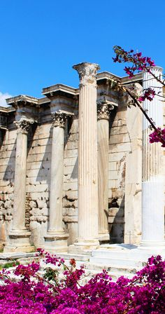Archeological site of Hadrian's Library - Athens, Greece