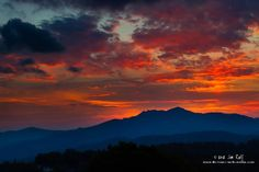 The sunset at Grandfather Mountain on September 27, 2012.