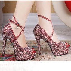 Dresswe.com SUPPLIES New Fashion High Heel Platform Prom shoes Pumps with Crystals Pumps