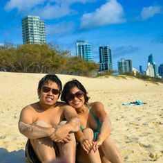 Swam in the famous Surfers Paradise in Gold Coast