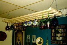 Under Cabinet Wine Glass Rack Holds 15