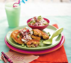 Corn, Bacon & Cheese Fritters Your Family has been creating delicious recipes for busy women since the and has a huge repertoire of nutritious, easy and lip-smacking recipes on hand! Cottage Cheese Dips, Smoked Salmon Sandwich, Fish Burger, Jam Tarts, How To Make Breakfast, Stuffed Green Peppers, Perfect Food, Yummy Food, Delicious Recipes