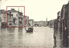 The Palazzo Papadopoli on the Grand Canal, postcard of century. Grand Canal, Architectural Antiques, Michelangelo, Venice Italy, 16th Century, Palazzo, Antique Furniture, Louvre, Architecture