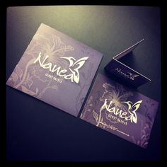 Folded business card, mini brochure and Flyer for beauty salon #welovedesign #weloveprint