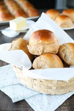 How perfect do these Whole Wheat Dinner Rolls look?