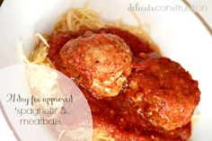 "21 Day Fix Approved ""Spaghetti"" & Meatballs! - Delicate Construction #21dayfix"