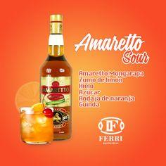 Amareto Sour. Con nuestro impresionare Amaretto Mongarapa.