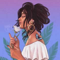 """5,510 Likes, 343 Comments - Inés (@ine8s) on Instagram: """" @camila_cabello - - I'm loving both songs!! especially Havana, and I really wanted to paint the…"""""""