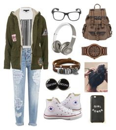 """""""Nerd's Day Out"""" by gargi-sundaram on Polyvore featuring Dsquared2, Alexander Wang, Topshop, Converse, Wilsons Leather, Beats by Dr. Dre, WeWood and BillyTheTree"""