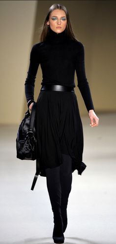 Simplistic elegance, you just can't go wrong with this stunning all black outfit....