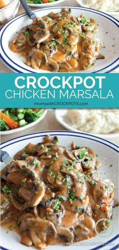 Looking for a fancy dinner but don't have time to prep? Skip take-out and make this fantastic Crockpot Chicken Marsala Recipe