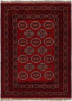 Red 183cm X 295cm Afghan Ersari Rug Oriental Rugs Irugs Nz