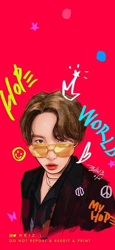 Anime Drawings Sketches, Bts Drawings, Jung Hoseok, Bts Home Party, J Hope Smile, Jhope, Children Photography Poses, Family Drawing, Kpop Posters
