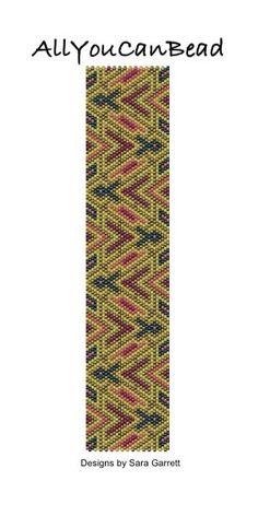 Peyote Bracelet Pattern 507h Bead Weaving INSTANT DOWNLOAD PDF