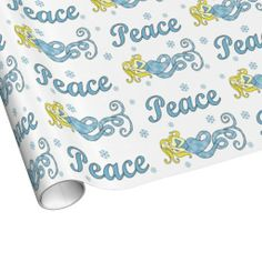 Holiday Peace Mermaid Wrapping Paper