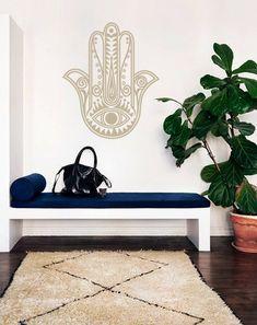 Bohemian Hamsa Fatima Hand Decal for Living Room, Dorm, Yoga, Studio, Home or Bedroom