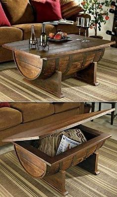 Table basse tonneau