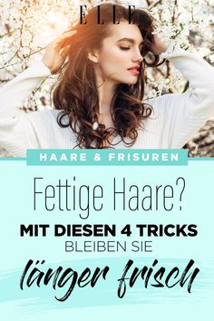 Schnell fettige Haare? Mit diesen 4 Tricks bleiben sie länger frisch #haarewaschen #fettigehaare #kopfhaut #gesundehaare #haircare #haarpflege #elle Tricks, Elle, Movies, Movie Posters, Hair, Fitness, Top, Grease Hairstyles, Flawless Skin