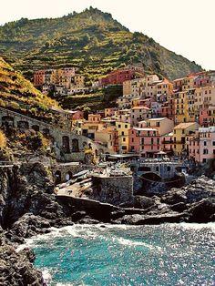 Cinque Terre Art Print - Manarola Italy Photography - Italian Village Photo - Colorful Architecture - Mediterranean Decor - Italy Photograph #italyphotography