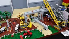 Newcastle BrickFest 2015 | by KPowers67 Lego Hospital, Lego Factory, Lego Village, Construction Lego, Lego Fire, Amazing Lego Creations, Lego Pictures, Lego Trains, Lego Modular
