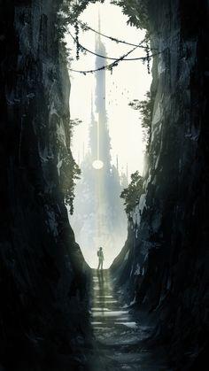 Roland and the Dark Tower, Neil Branquinho on ArtStation at https://www.artstation.com/artwork/eDlN6