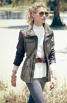 Perfect fall outfit, especially the jacket.