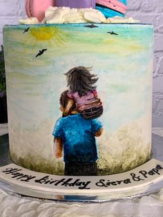 Painted Cakes, Beautiful Cakes, Cake Decorating, Pretty, Painting, Design, Art, Cakes, Art Background