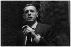 Cigar. Smoking. Black and white. By The Image Garden Photography
