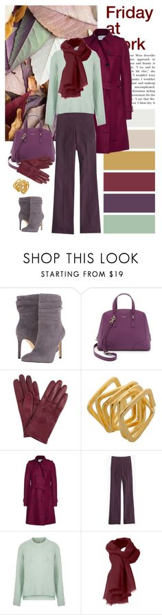 """""""Friday at work"""" by dezaval ❤ liked on Polyvore featuring GUESS, Furla, John Lewis, Bjørg, Harris Wharf London and J.Crew"""