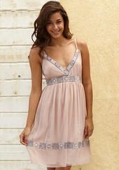 Bliss Embroidered Tank Dress