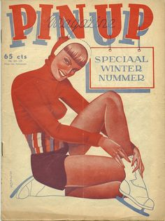 'Pin Up Magazine' with ice skater, 1950.