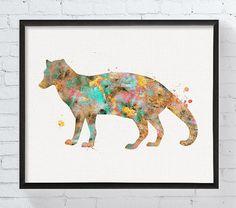 Watercolor Civet Civet Art Print Civet Poster by MiaoMiaoDesign