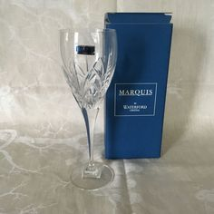 """Waterford Caprice Goblet 9 1/4"""" SIGNED NIB w/Tags Marquis Collection #WaterfordMarquisCollection"""