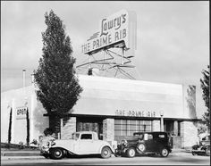 Lawry's Prime Rib (late 1930s) - future home to Stear's for Steaks. Restaurant Row, La Cienega Blvd, Beverly Hills