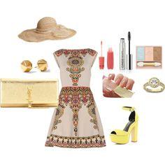 """Outfit para ir al Hipodromo Primavera Clara"" by adriana1-977 on Polyvore"