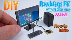 DIY Realistic Miniature Desktop PC with LED Widescreen Monitor  | DollHo...