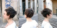 Short, choppy hair