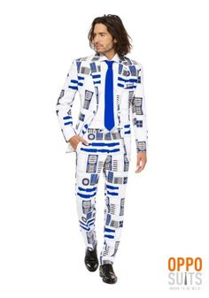 This delightful suit comes to us from suit mastermind Opposuits out of Holland, and it's ready for fun. Because, it's Star Wars officially licensed, and packs all of Artoo's style right into a slim fit suit! Star Wars Party Costume, Star Wars Costumes, Suit Fashion, Fashion Pants, Geek Fashion, Fashion Decor, Fit Star, Silk Anarkali Suits, Unique Costumes