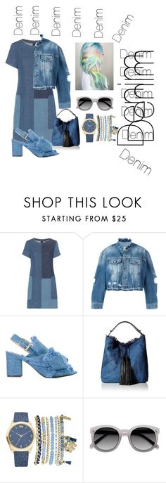 """""""#1.. denim"""" by nadialestari99 ❤ liked on Polyvore featuring J Brand, County Of Milan, N°21, Rebecca Minkoff and Mixit"""