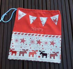 Mini, personalised Christmas sack  (30cm x 35cm) £10.00 plus postage
