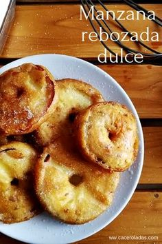 How to prepare the classic of # apples fried batters Crispy on the outside and juicy on the inside faciles gourmet de cocina de postres faciles pasta saludables vegetarianas Bakery Recipes, Kitchen Recipes, Dessert Recipes, Healthy Desserts, Love Food, Sweet Recipes, Food And Drink, Yummy Food, Favorite Recipes