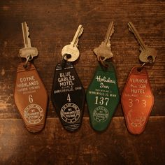 hotel keys ~ the old kind - still around though, if you go to a cheapass motel YUCK